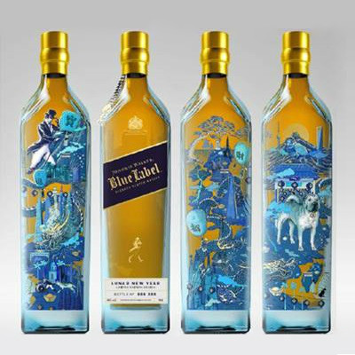 Johnnie Walker Blue Label CNY Pack - Year of Dog NV (1x75cl)